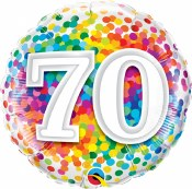 70th Dot Foil Balloon