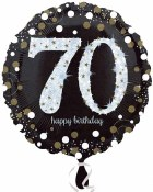 70th Polka Dot Foil Balloon