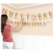 Floral Baby Banner Kit