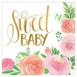 Floral Baby Lunch Napkins