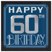 60th Birthday Man Bev Napkins