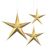 3d Star Dangling Gold