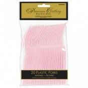 Pink Blush Plastic Forks