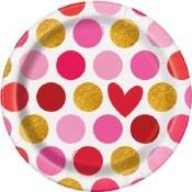 Valentines Dessert Plates