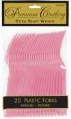 Pink Plastic Forks