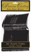 Black Plastic Forks
