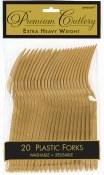 Gold Plastic Forks