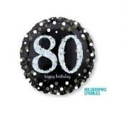 80th Sparkling Foil Balloon