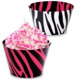 Zebra Reversible Cupcake Wraps