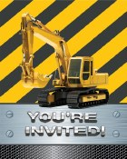 Construction Bday Zone Invites