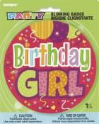 Birthday Girl Flashing Button