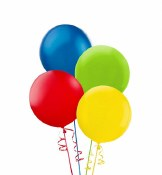 Assort 24in Latex Balloons 4ct