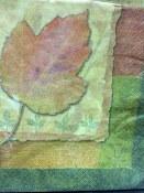 Autumn Collage Beverage Napkin