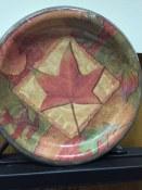 Autumn Collage Dessert Plates