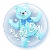 Baby Boy Bear Double Bubble