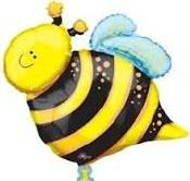 Bee Supershape Foil Balloon