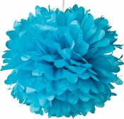 Fluffy Decor Balls 17in Turq