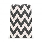 Chevron Favor Bags-black