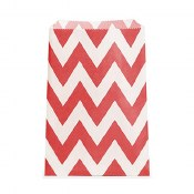 Chevron Favor Bags-red