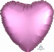 Heart Foil Satin Luxe Pink