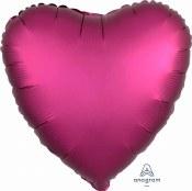 Heart Foil Satin Luxe Pomegran