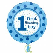 1st Birthday Blue Foil