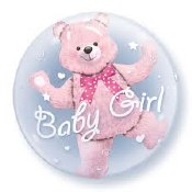 Baby Girl Bear Double Bubble