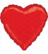 Red Heart 18in Foil Balloon