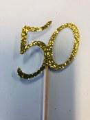 50 Glitter Cupcake Topper-12ct