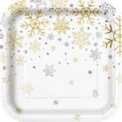 Snowflake Metallic Plates