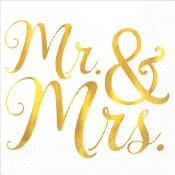 Mr & Mrs Beverage Napkins