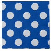 Polka Dot Bev Napkins Royal