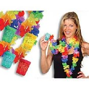 Floral Leis With Shooter Glass
