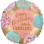 Stay Fabulous 18in Foil