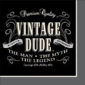 Vintage Dude Beverage Napkins