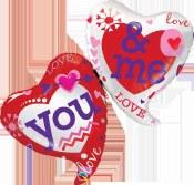 You & Me Heart Foil