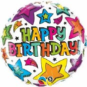 Multi Star Birthday Balloon