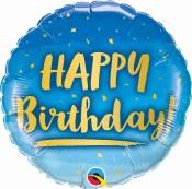 Birthday Blue Foil Balloon