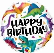 Dino Birthday 18in Foil