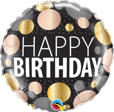 Metallic Dot Birthday Balloon