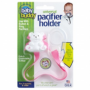 Baby buddy: Pacifier Holder W/Adapter