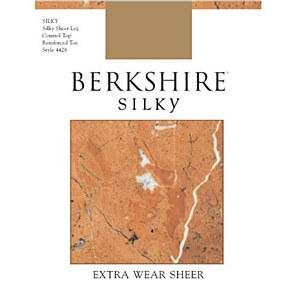 Berkshire Silky Extra Wear Sheer Control Top Pantyhose - Reinforced Toe # 4428