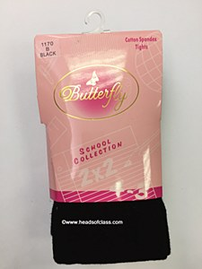 Butterfly School Collection Flat Cotton Tights # 1170