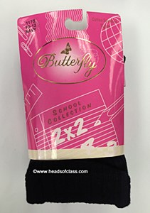 Butterfly School Collection Cotton Ribbed Tights 1175