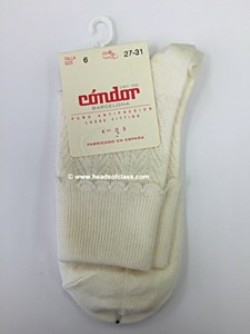 Condor Girls Scallop Socks # 456