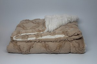 Fur Cozy Blanket - Camel