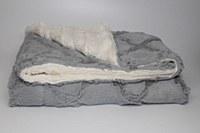 Fur Cozy Blanket - Silver