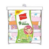 Hanes Girls Bikinis 9 Pack #P920BR