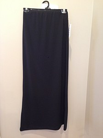 Monte Carlo Long Slinky Burberry tag Skirt Black # M-472