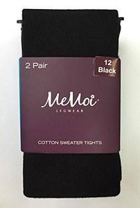 Memoi Cotton Tights 2/pk